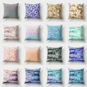 Case Home Waist Cushion Decor Cover Sofa Pillow Polyester Throw 18#x27;#x27; $2.55