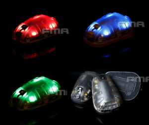 FMA Airsoft Tactical Hunting Survival Helmet Safety Flash Light GreenBlueRed