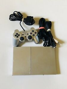 Sony PlayStation 2 PS2 Slim Console Silver SCPH-90001 Tested Working
