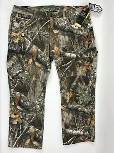 Under Armour Storm Real Tree Mens 42 x 30 Early Season Field Hunting Pants Camo