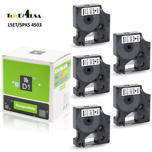 5PK Compatible DYMO D1 45013 45010 Label Tape for DYMO LabelManager 160 280 420P