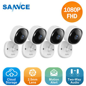 SANNCE Full 1080P Video Wireless Security Camera IP Network Two Way Audio IR CUT