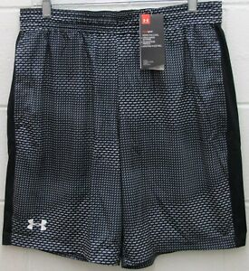 Under Armour Men's Heat Gear Raid Shorts Fitted Stretch Black X-Large XL New