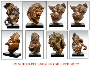 FREDERICK HART Ex Nihilo COMPLETE SET of 8 Large FULL SCALE Bronze Sculpture Art