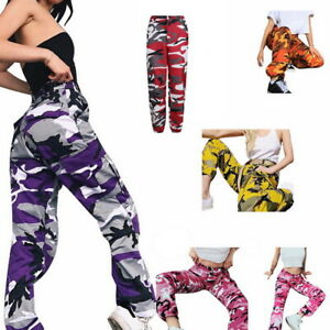 Women Ladies Camo Cargo Trousers Pants Militar  Arm Combat Camouflage Printed US