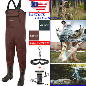 HISEA Neoprene Fishing Waders Waterproof Insulated Cleated Bootfoot Chest Waders
