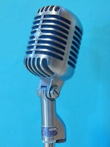 Vintage 1961 Shure 55S Dynamic Microphone And Accessories Electro Voice Antique