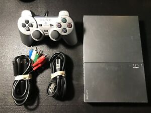 PS2 Silver Slim Console SCPH-90001 With Controller/Component & Power Cables