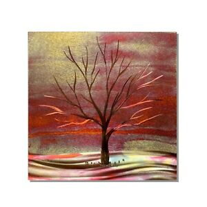 Copper Metal Wall Sculpture Modern Abstract Contemporary Landscape Tree Wall Art