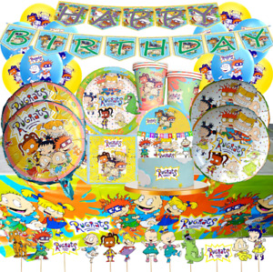 RUGRATS BIRTHDAY PARTY CUP PLATE BALLOON DECORATION CUPCAKE CAKE TOPPER BANNER
