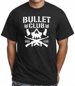 Bullet Club Men's T-Shirt Japanese Wrestling Inspired Gym Training Workout Top