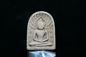 A037-05 Phra Soomko monk Old Thai Buddha Southeast Asia Amulet Wat Free Shipping