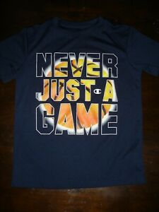EUC Champion youth boys dri fit basketball shirt Never Just a Game 7 8 $9.00