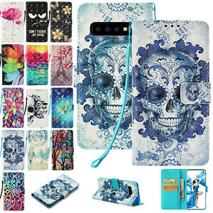 US Cool For Samsung S10 5G Case Purse Card Slot Stand Cover Ghost Summer Picture