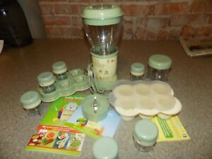 Magic Baby Bullet Complete Food Blender Processor System Green Squeeze Station