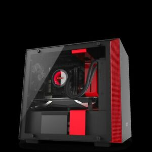 Nzxt CA-H200B-BR H200 No Power Supply Mini-itx Case (matte Black/red)