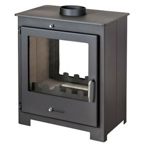 Multi Fuel 2 sided stove 18kw Brita Wood Burning Burner contemporary design