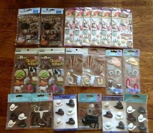 LOT OF 20 COUNTRY WESTERN COWBOY STICKERS SCRAPBOOKING BRAND NEW JOLEE STICKO