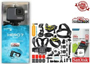 GoPro HERO 7 SILVER Waterproof camera with [40+] Sports Accessories NEW SEALED