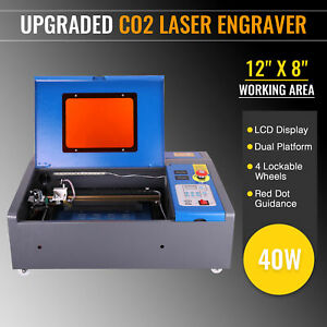 Preenex 40W 12quot; × 8quot; CO2 Laser Engraver Cutter Red Dot Guidance K40 USB Port New