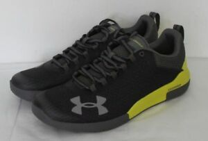 UNDER ARMOUR CHARGED LEGEND MEN'S SHOES SIZE 10.5 BLACKLIME GREEN