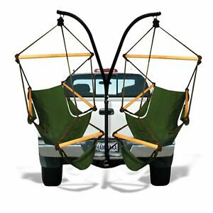 Trailer Hitch Hanging Chair Stand with Hammock Chairs Seats Green Camping Swing