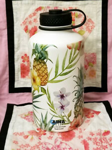 64 oz  Vacuum Insulated  water bottle flask Tropical Print Hydro Fifty