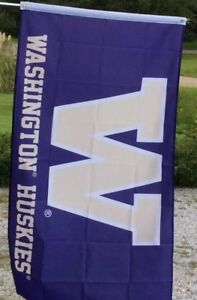 WASHINGTON HUSKIES College Football FLAG 3x5 FREE FAST SHIPPING