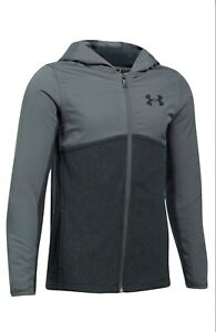 Boy's 8 20 Under Armour Phenom Full Zip Hoodie Gray Size S Retail $64.99 $49.99