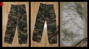 U  1 (One) x French FELIN Trousers Pants - Centre Europe Woodland Pattern - NEW