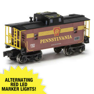 MENARDS O GAUGE PENNSYLVANIA LIGHTED TRAIN CABOOSE LIONEL amp; MTH Compatible