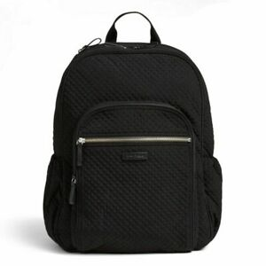 NEW VERA BRADLEY Laptop Backpack in Classic Black for Campus School Travel