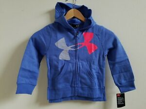 NWT Under Armour Little Girls Full Zip Hoodie Mirror SZ 4