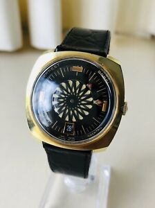 Vintage Ernest Borel Kaleidoscope Cocktail Men's Watch + Working!