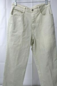 Best Jeans Stretch Cotton amp; Polyester Blend Beige Straight Leg Jeans Large