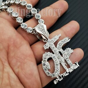 Iced Only the Family OTF Pendant 20 CZ Choker Chain Hip Hop Urban Necklace $19.94