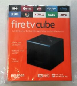 Amazon Fire TV Cube with Alexa and 4K Ultra HD Streaming Media Player!