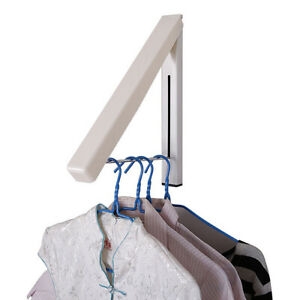 Stainless Steel Folding Wall Hanger Laundry Rack Retractable Clothes Hanger Rack