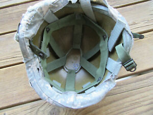 Military HELMET PASGT With Cover and Chin Strap etc. Has letters