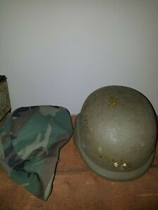 NICE!! Vintage Military PASGT Devils Lake Sioux Helmet W/ COVER SEE ALL PICS