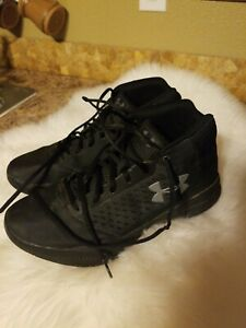 Mens Under Armour black basketball shoes sz 8.5