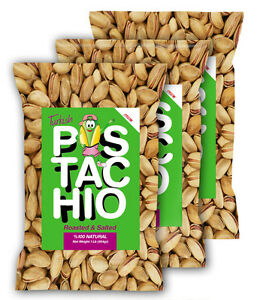 Turkish Antep Pistachios Salted 3 One Lb. Free Shipping NEW HARVEST