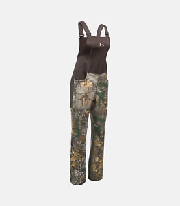 NWT Sz XL Women Under Armour Realtree Camo 1282692 947 Stealth Scent Control Bib