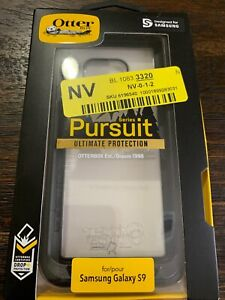 GENUINE OtterBox Pursuit Series Case Cover for Samsung Galaxy S9 BlackClear NEW