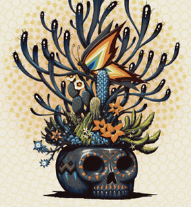 Jeff Soto Skull of Life Edition #100 Art Print Poster Signed SERIGRAPH Banksy