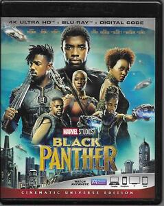 Black Panther 4K Ultra HD Blu-Ray 2 Disc FREE SHIPPING NO DIGITAL