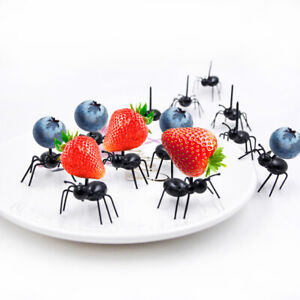 12PCS lot ABS Worker Ant DIY Food Forks Wedding Home Party Decoration Supplies