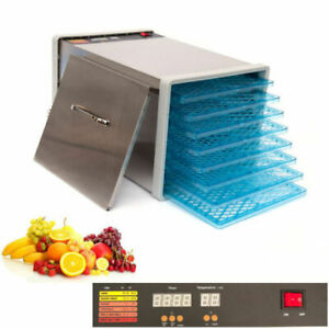 8 Tray Food Fruit Dehydrator With Door and Timer Dryer