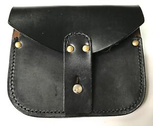 WWI FRENCH M1915 LEBEL RIFLE LEATHER AMMO POUCH BLACK $23.16