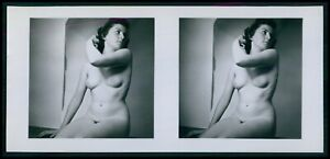 pp Hans Martin Stereoview photo stereo card nude woman pinup original old 1950s $14.00